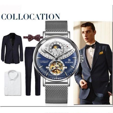 BINGER 高級腕時計 トゥールビヨン ムーンフェイズ グランドコンプリケーション 日本未発売