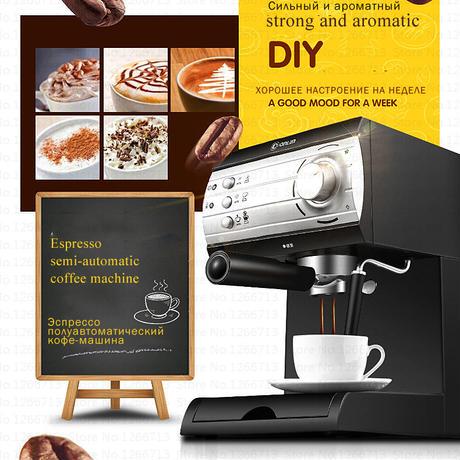 イタリア製 高圧蒸気 半自動 エスプレッソ コーヒーマシン 家庭用 業務用 コーヒーメーカー