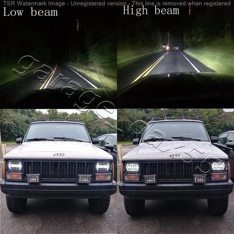 角目 フルLED ヘッドライト 180SX PS13 サニー サニトラ ダットサン 汎用 角型 5×7インチ 車検対応