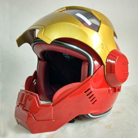 フルフェイス 海外ブランド 高品質 アイアンマンタイプ ヘルメット フルカラー