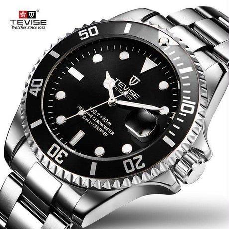 海外ブランド Tevise メンズ 腕時計 機械式時計 ステンレス フルスチール ビジネス サブマリーナ