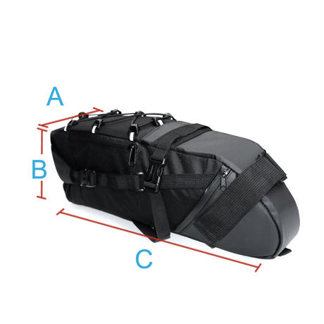 NEWBOLER 自転車 バッグ 防水 保存 袋 サイクリング リアパック