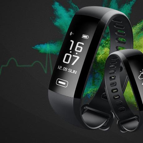 Tezer R5MAX スマートフィットネス ブレスレット 腕時計 インテリジェント 血圧 心拍 血液 酸素 SMS APP メッセージ プッシュ通知