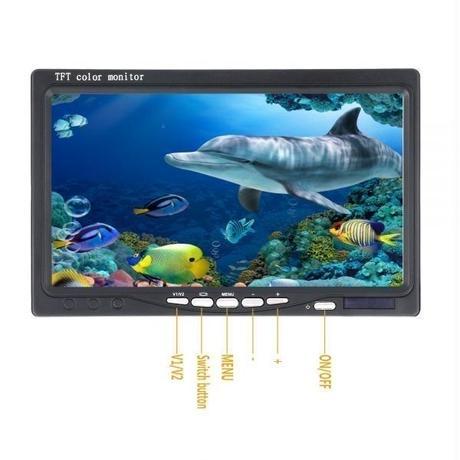 15m GAMWATER 7インチモニター 水中カメラ カメラキット LEDライト 釣りカメラ フィッシング 魚群探知機