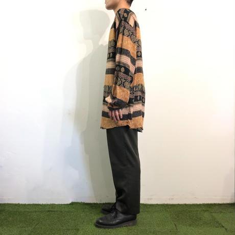 Vintage stand collar L/S shirt