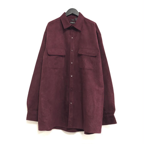 FAKE SUEDE L/S SHIRT