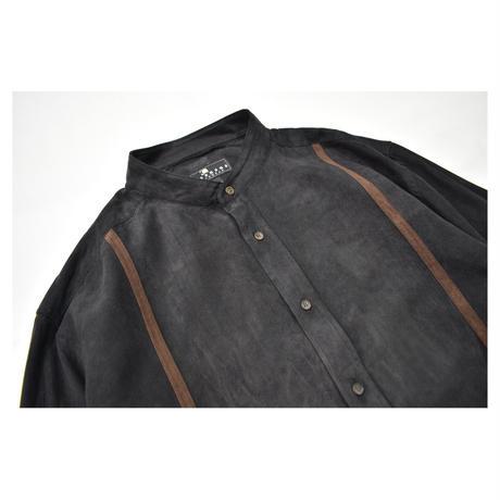 Line Design Fake Suede L/S shirt