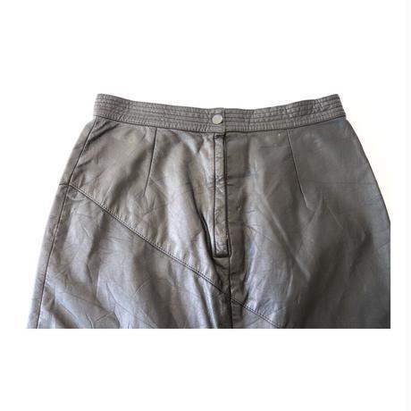 cedars Leather Long-Skirt