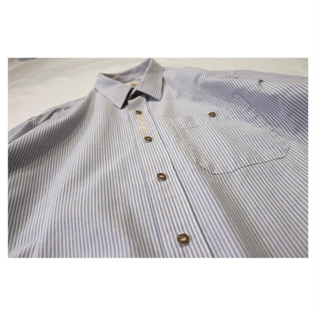 Euro Tyrolean embroidery Stripe shirt