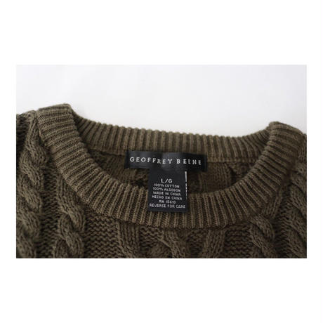 GEOFFREY BEENE ケーブルニットセーター