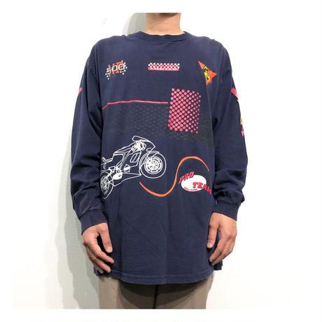 Racing Design Print L/S T-shirt