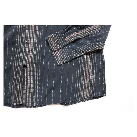 "Stand collar Design Stripe L/S shirt ""gibbo"""