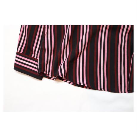 Stand collar Stripe Design L/S shirt