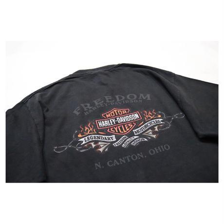 """00s USA Harley-Davidson S/S T-shirt """"Fire Design"""""""
