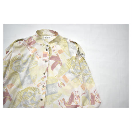Euro Vintage Stand collar L/S shirt