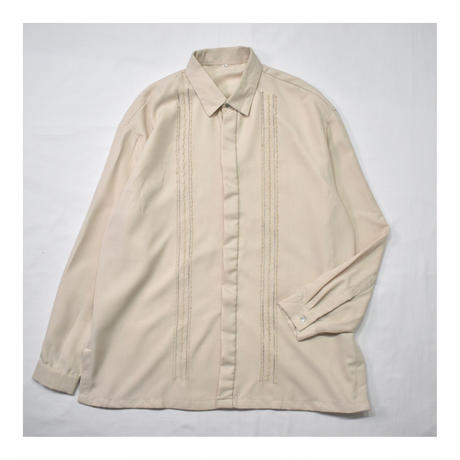 Vintage Line Embroidery Design L/S shirt