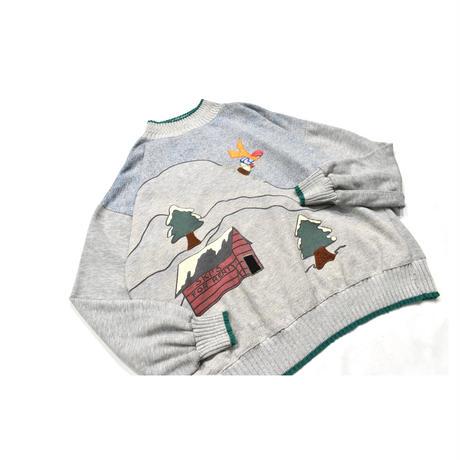 Mock neck sweat shirt