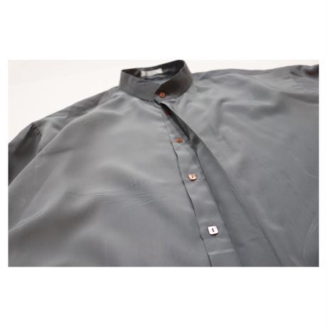"Stand collar Design L/S shirt ""pavo"""
