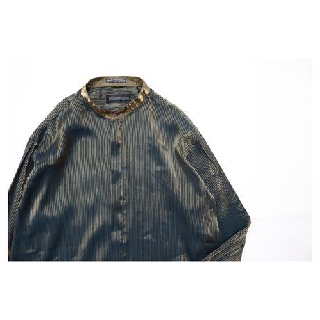 Black Stripe Stand collar Design L/S shirt