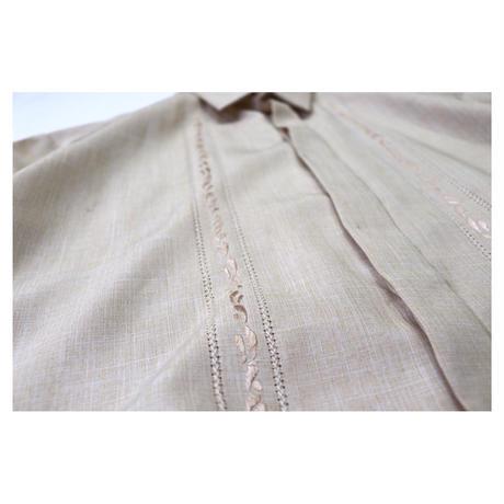 Vintage Linen Embroidery Design S/S shirt