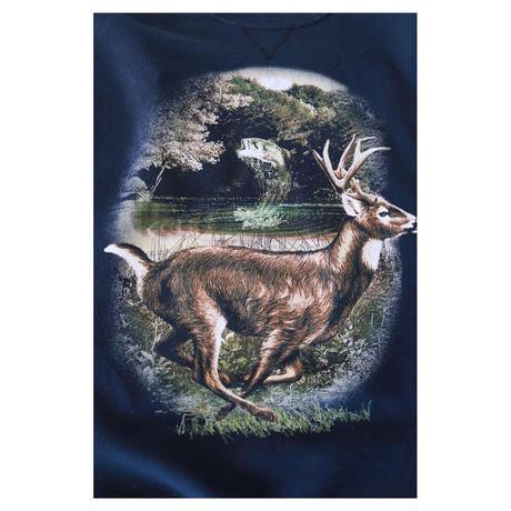 animal printed スウェットシャツ