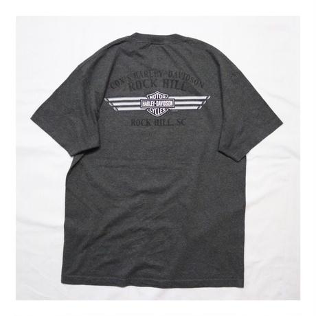 "00s Harley-Davidson S/S T-shirt ""Fire Design"""
