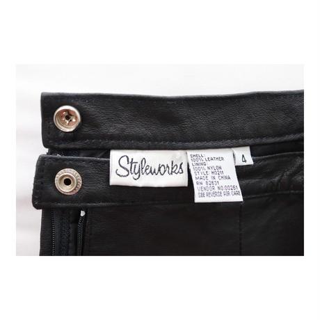 styleuosks  Leather short-Skirt