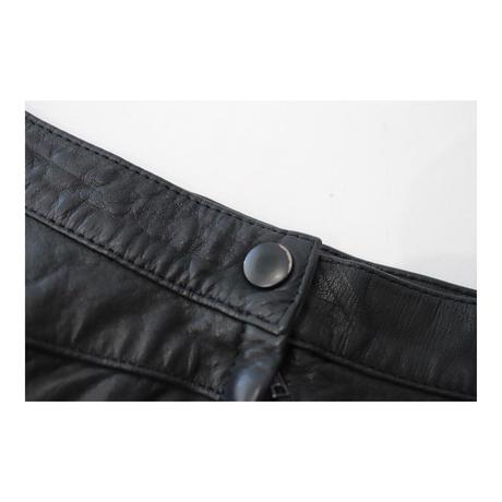 LBportfolio  Leather Medium-Skirt