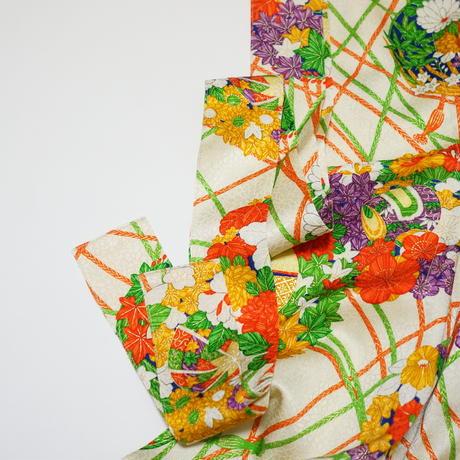 花薬玉模様【タックラップスカート】