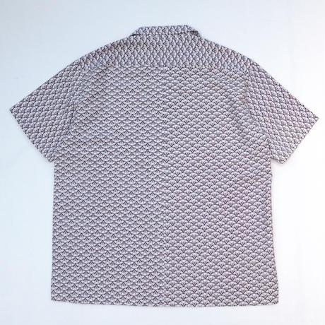 花の青海波模様 【Ⅼ】【ケニシャツ】