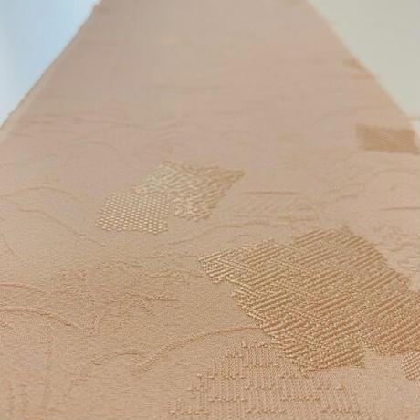 破れ色紙に農村風景の織出し模様【ギャザーラップスカート】