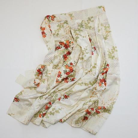 金彩楓枝梅模様【タックラップスカート】