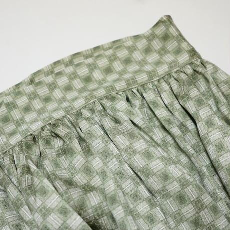 変わり格子模様【ギャザーラップスカート】