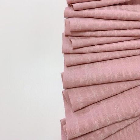 抽象模様織出し無地着物【ギャザーラップスカート】