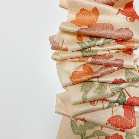 葉地紋の洋花模様【タックラップスカート】
