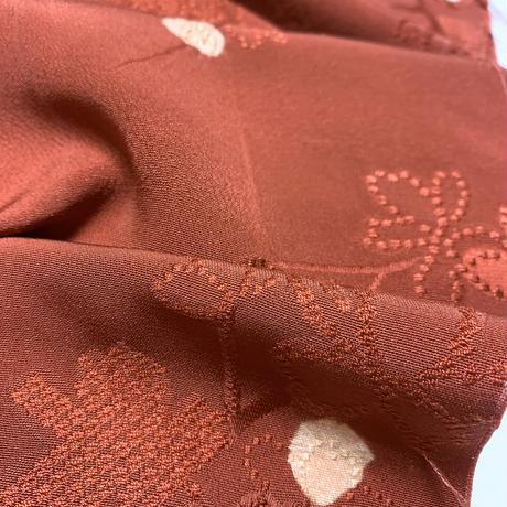 枝梅地紋に花散らし模様【ギャザーラップスカート】