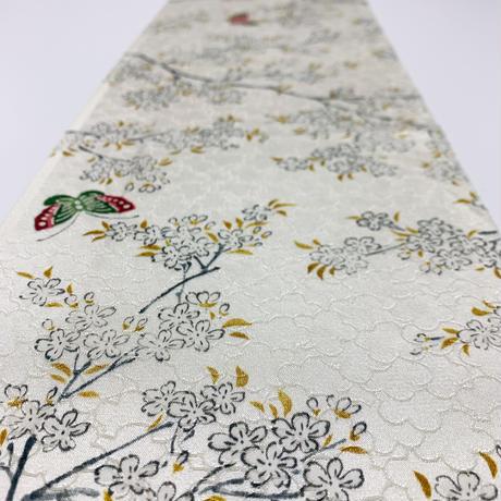 桜に蝶模様花弁尽くし地紋【ギャザーラップスカート】