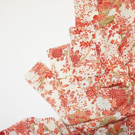 草木に蝶模様【タックラップスカート】