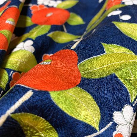 椿に梅模様【ギャザーラップスカート】