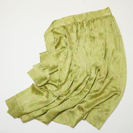 絞り線描模様【ギャザーラップスカート】
