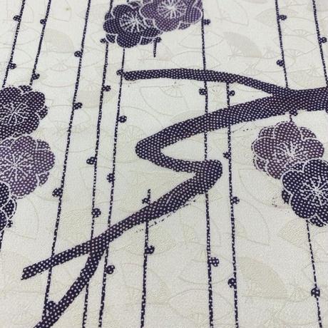 総扇地紋に八重梅模様【ギャザーラップスカート】