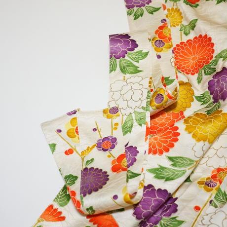 牡丹・菊・梅模様【タックラップスカート】