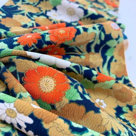 金縁草花模様【タックラップスカート】