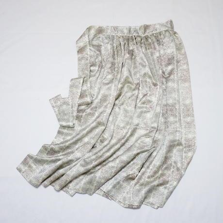 抽象更紗模様【ギャザーラップスカート】
