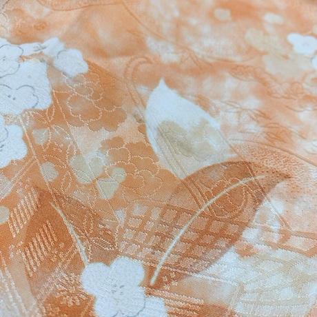 紫陽花花模様暈しに御所車地紋【タックラップスカート】