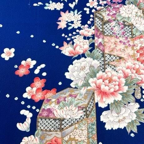 貝桶に花模様【ギャザーラップスカート】