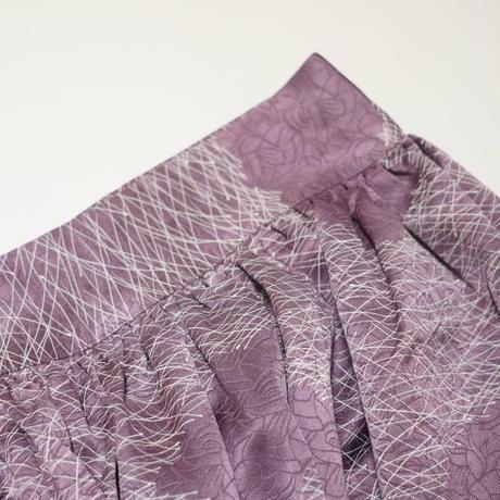 雲に線描き模様総薔薇地紋【ギャザーラップスカート】
