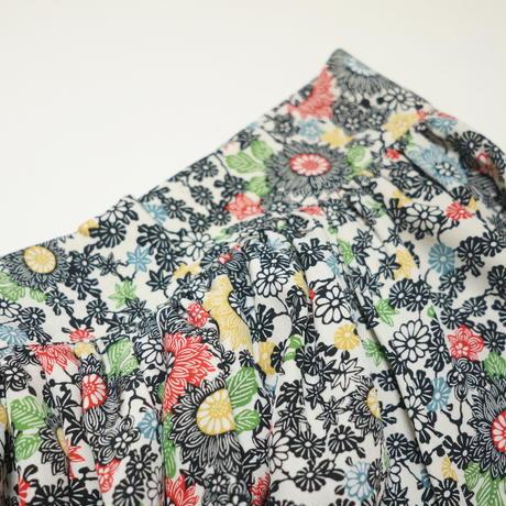 菊に楓模様【ギャザーラップスカート】