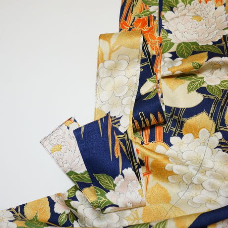 雲に草花模様【タックラップスカート】