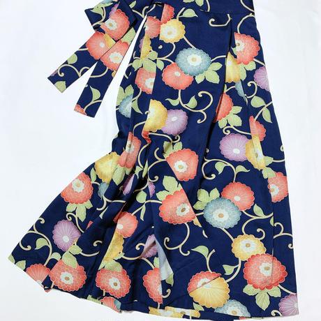 菊唐草模様【タックラップスカート】